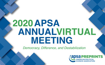 2020 APSA Annual Meeting: Democracy, Difference, and Destabilization logo