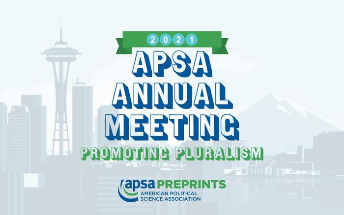 2021 APSA Annual Meeting: Promoting Pluralism  banner