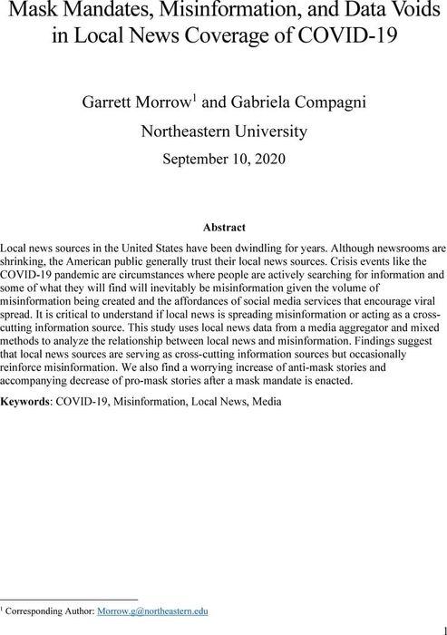 Thumbnail image of Morrow&Compagni_Misinformation&LocalNews-2020.pdf
