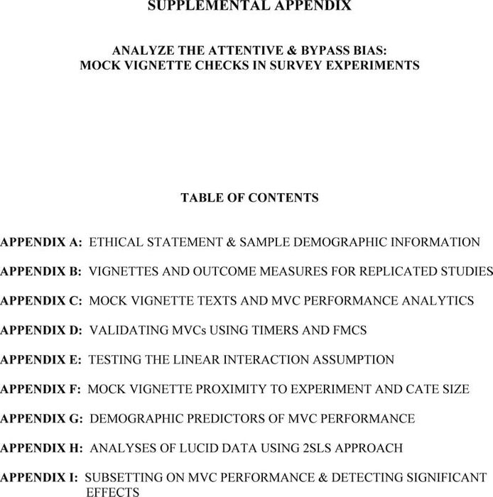 Thumbnail image of Kane Velez Barabas_Analyze the Attentive and Bypass Bias_SUPPLEMENTAL APPENDIX.pdf