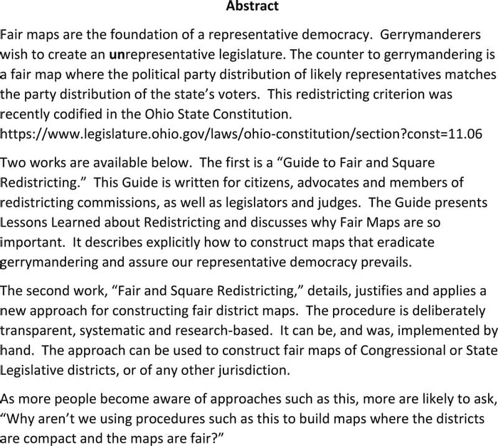Thumbnail image of FAIR AND SQUARE REDISTRICTING with Guide1.pdf