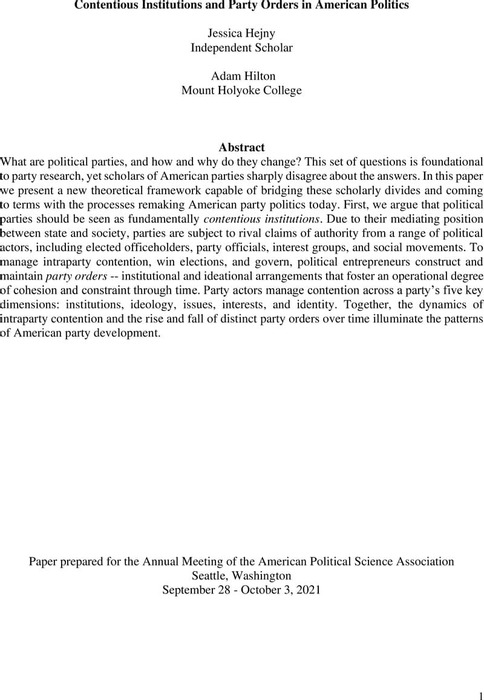 Thumbnail image of Hejny and Hilton_Contentious Institutions and Party Orders_APSA 2021.pdf